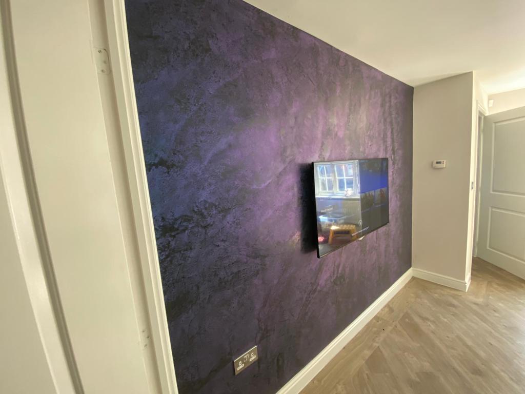 Ultra Finishes - Luxury black and blue Venetian Plaster Surrey 5