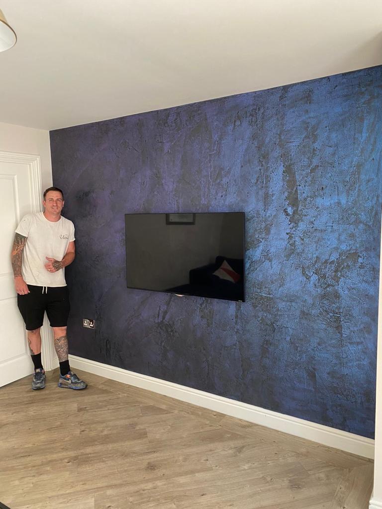 Ultra Finishes - Luxury black and blue Venetian Plaster Surrey