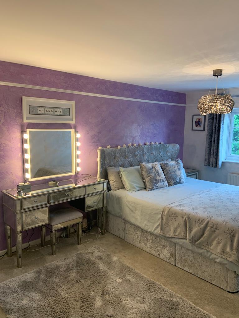 Ultra Finishes - Venetian Plaster Surrey luxury venetian plaster purple bedroom