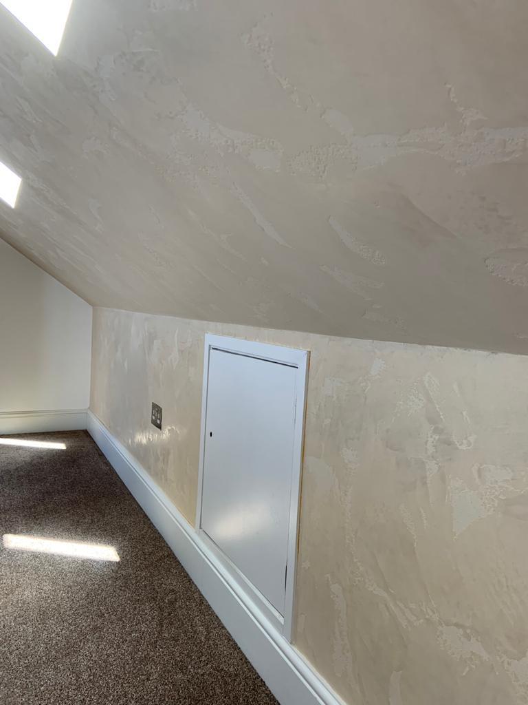 Venetian Plaster Surrey - Light luxury venetian polished plaster attic