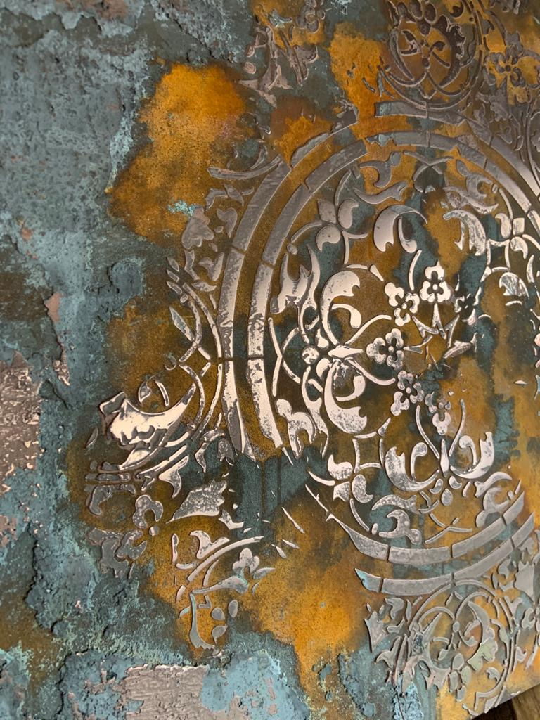 Ultra Finishes Venetian Plaster Canvas Art Work 2