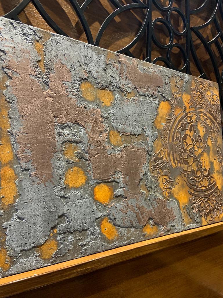 Ultra Finishes Venetian Plaster Canvas Art Work