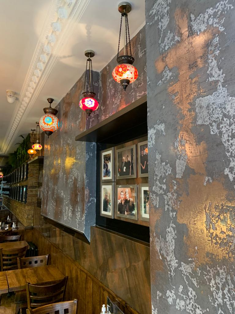 Ultra Finishes Venetian Plaster - Surrey bar industrial finish