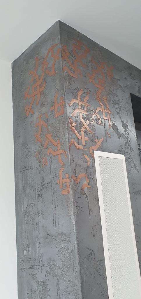 Venetian Plaster Surrey - Fireplace up close - Ultra Finishes