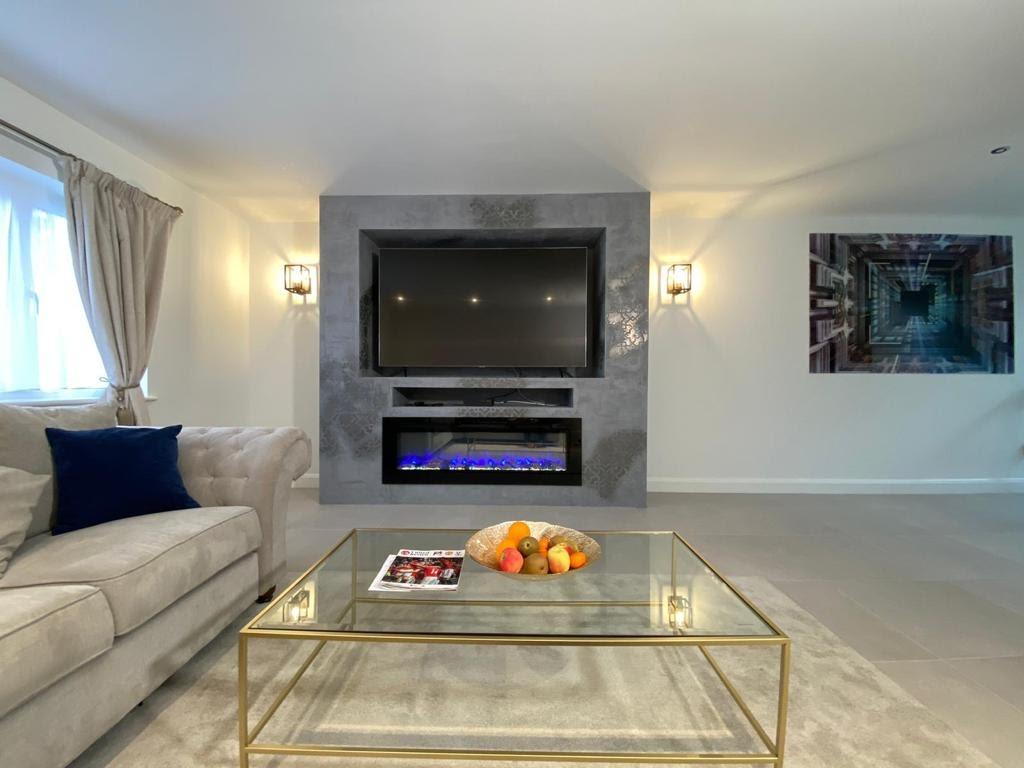 Venetian Plaster Surrey - Luxury living room - Ultra Finishes