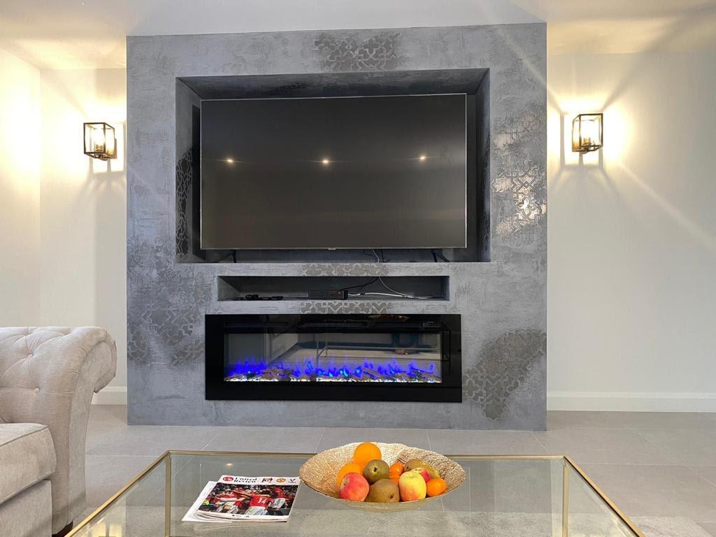 Venetian Plaster Surrey - Luxury venetian plaster fireplace - Ultra Finishes