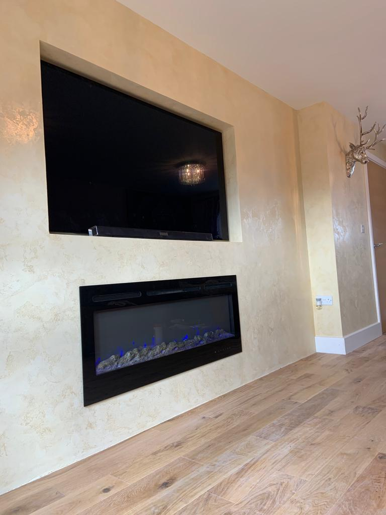 Ultra Finishes - polished plaster Feature Wall - Venetian Plaster Surrey
